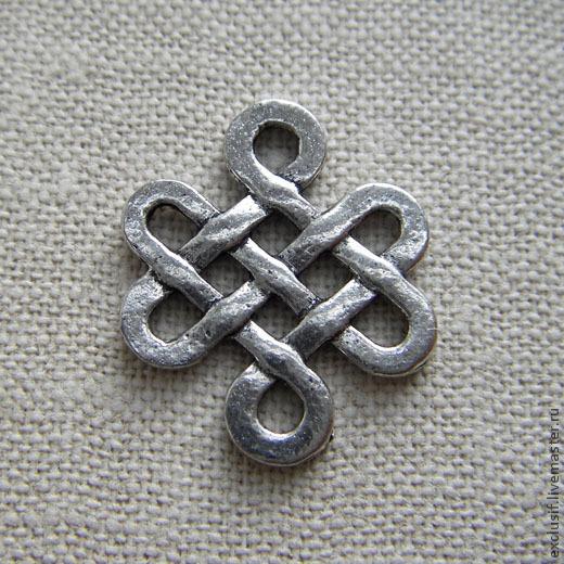 Подвеска коннектор для украшений кельтский узел, соломонов узел или узел любви