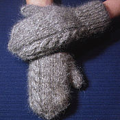 Аксессуары handmade. Livemaster - original item Men`s double knitted mittens. Handmade.