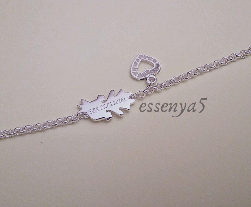 Серебряный браслет для мамы девочка коллекции дети