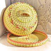 Для дома и интерьера ручной работы. Ярмарка Мастеров - ручная работа Плетеная хлебница Каравай. Handmade.