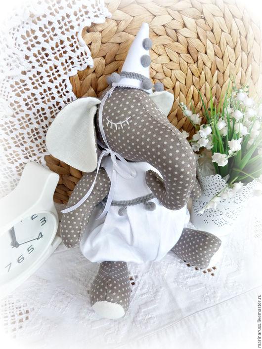 Игрушки животные, ручной работы. Ярмарка Мастеров - ручная работа. Купить Слон. Handmade. Серый, слон из ткани, декор для интерьера