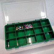 Материалы для творчества handmade. Livemaster - original item Organizer box for needlework 15 cells 240/130/35 mm. Handmade.