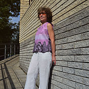 Одежда handmade. Livemaster - original item Tops: Top felted Lilac Dali. Handmade.