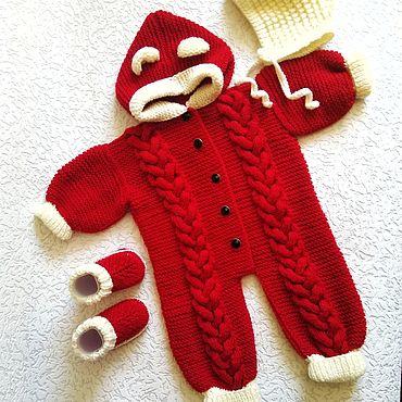 Товары для малышей ручной работы. Ярмарка Мастеров - ручная работа Комбинезоны: вязанные комбинезоны. Handmade.