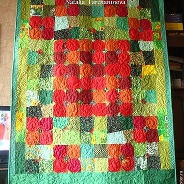 """Для дома и интерьера ручной работы. Ярмарка Мастеров - ручная работа Лоскутные покрывала: """" Poppies Patio """" ,""""Маковая Поляна"""". Handmade."""