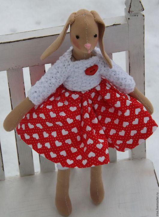 Подарки для влюбленных ручной работы. Ярмарка Мастеров - ручная работа. Купить Зайка текстильная Сердце моё. Handmade. Текстильная игрушка