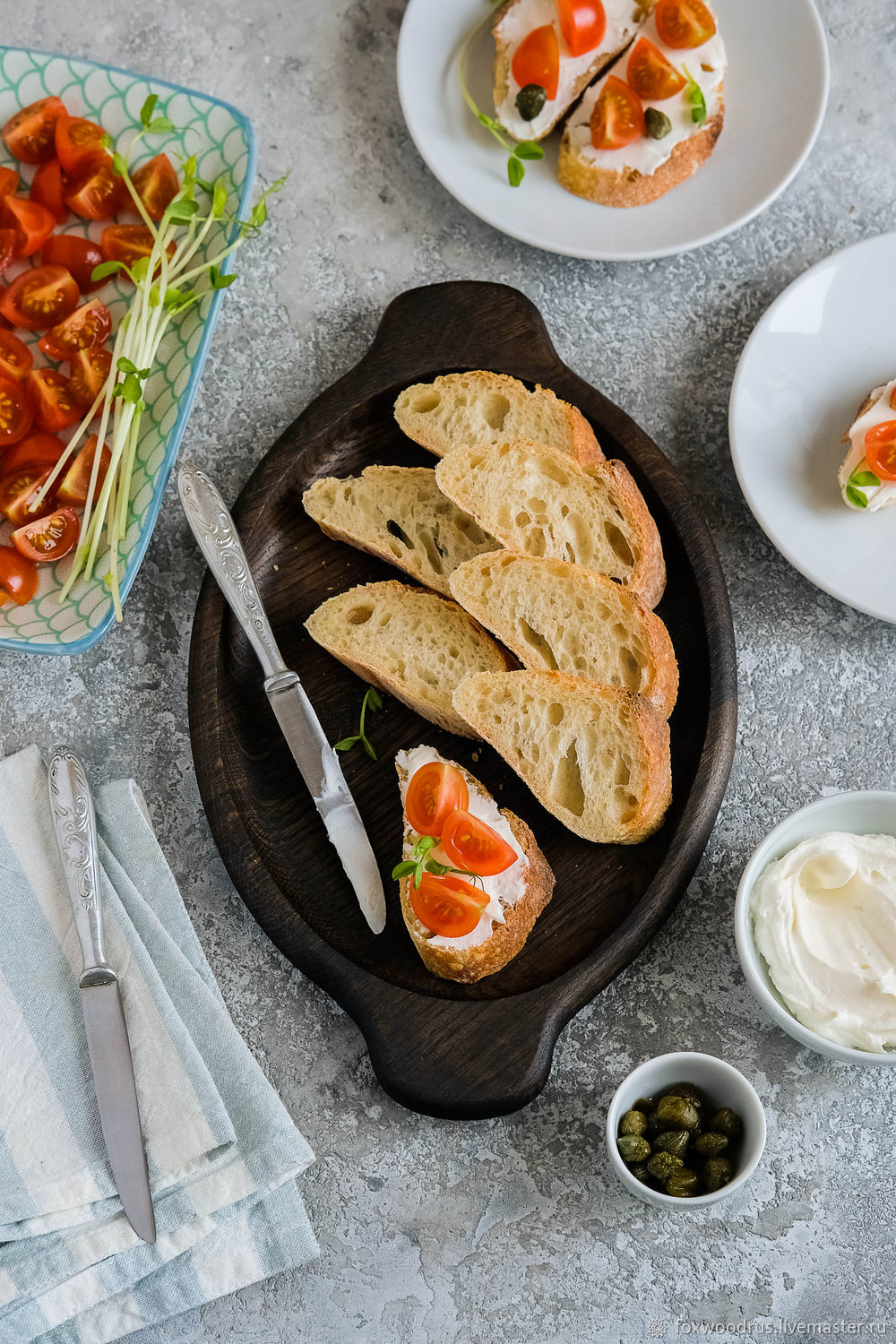Plate of bread and cheese, Utensils, Moscow,  Фото №1
