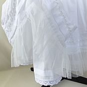 Одежда handmade. Livemaster - original item White dress, summer, cotton, with lace in the style boho.. Handmade.