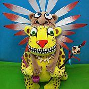 Куклы и игрушки handmade. Livemaster - original item Shaman leopard. Soft toy yellow cat Vasya Lozhkina. Handmade.