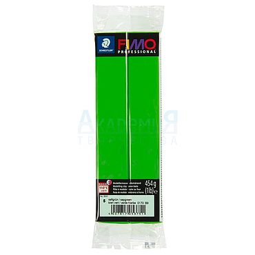 Материалы для творчества ручной работы. Ярмарка Мастеров - ручная работа Фимо FIMO professional полимерная глина 8041-5 ярко-зеленый. Handmade.