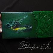 """Для дома и интерьера ручной работы. Ярмарка Мастеров - ручная работа купюрница """"Green"""". Handmade."""