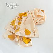 Аксессуары handmade. Livemaster - original item Scarves: Autumn leaves, batik. Handmade.