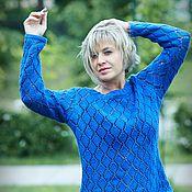 """Одежда ручной работы. Ярмарка Мастеров - ручная работа Свитер""""синяя птица"""". Handmade."""