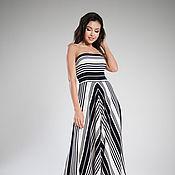Одежда handmade. Livemaster - original item Striped Maxi dress. Handmade.