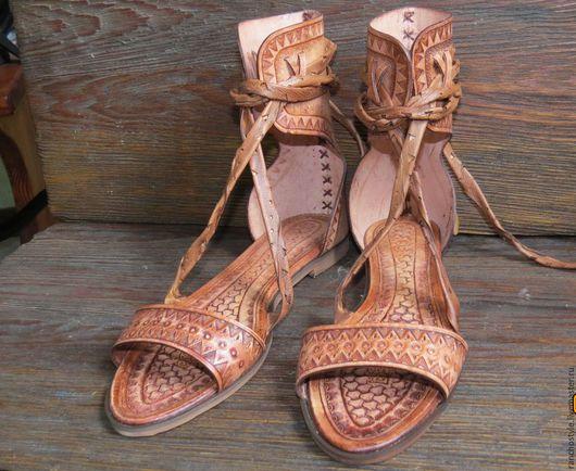 Обувь ручной работы. Ярмарка Мастеров - ручная работа. Купить босоножки женские кожаные.. Handmade. Кожа натуральная, босоножки
