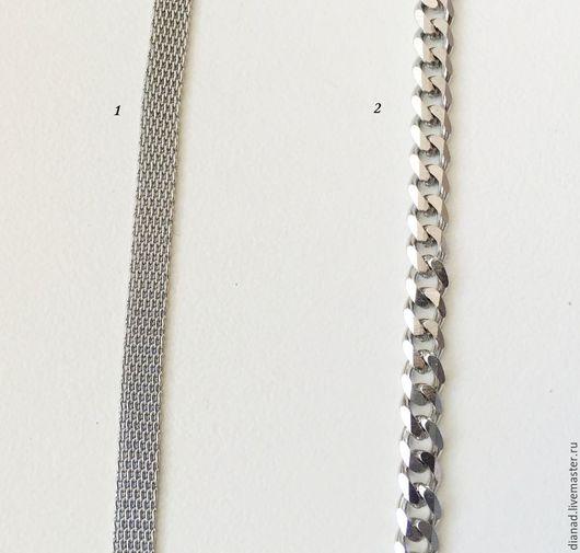 Для украшений ручной работы. Ярмарка Мастеров - ручная работа. Купить Цепочка из нержавеющей стали, для украшений, 2 вида. Handmade.