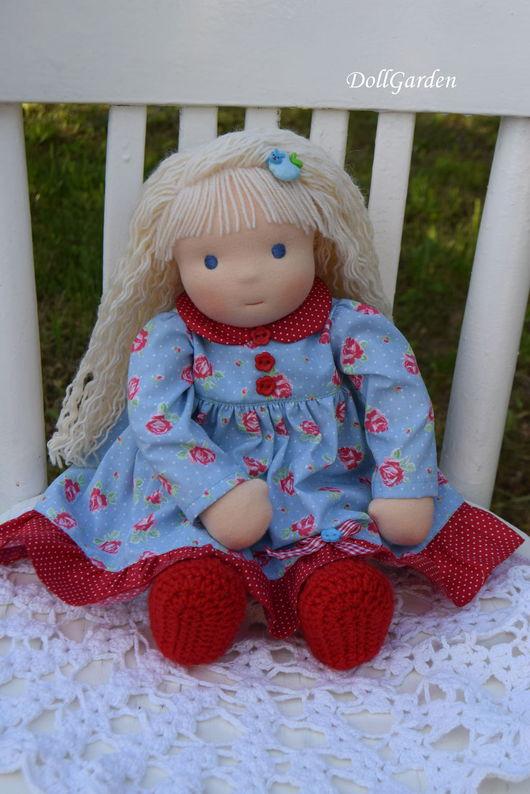 Вальдорфская игрушка ручной работы. Ярмарка Мастеров - ручная работа. Купить Леночка, вальдорфская кукла. Handmade. Ярко-красный