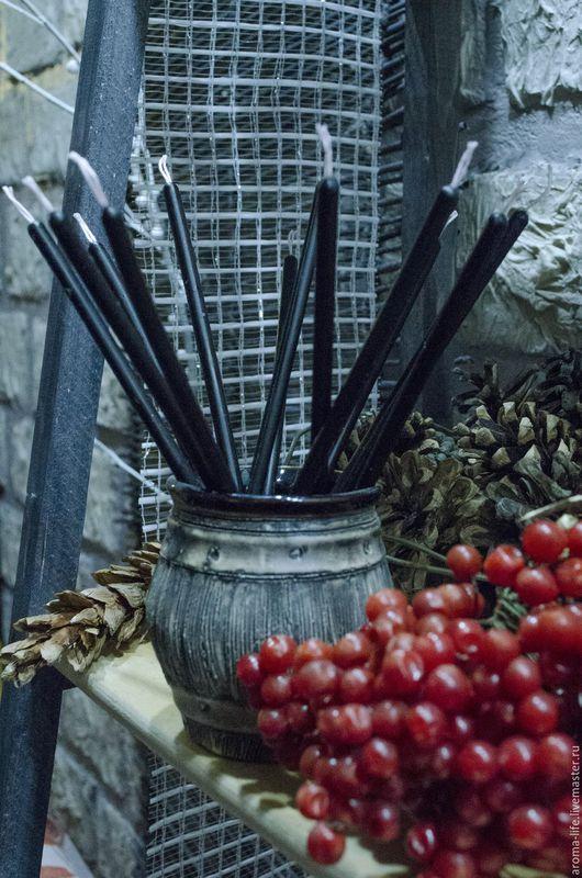 Свечи ручной работы. Ярмарка Мастеров - ручная работа. Купить Свеча восковая № 100  черная.. Handmade. Черный