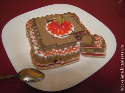 """Для примера. Форма торта может быть любая: круглая,квадратная или """"полено""""."""