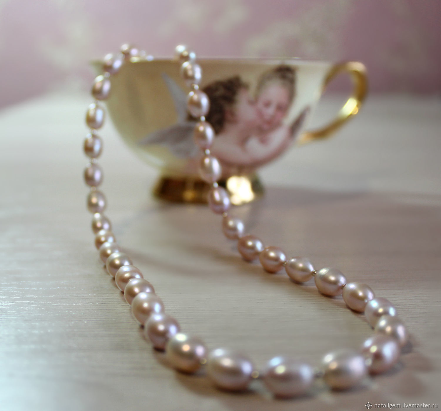Pearl beads A gift to your favorite, Necklace, Tuchkovo,  Фото №1