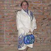 Одежда ручной работы. Ярмарка Мастеров - ручная работа Лёгкое валяное пальто Лана.. Handmade.