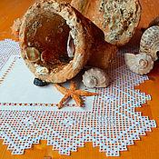 Для дома и интерьера ручной работы. Ярмарка Мастеров - ручная работа Салфетка Загадка амфоры, кружевная вышивка, лен. Handmade.