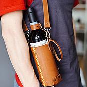 Сумки и аксессуары handmade. Livemaster - original item Gift carrying bag for a bottle of wine. Handmade.