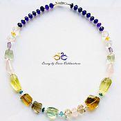 Украшения handmade. Livemaster - original item Necklace of amethyst, citrine, London Topaz, prasiolite, rose quartz. Handmade.