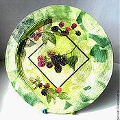 """Посуда ручной работы. Ярмарка Мастеров - ручная работа Тарелка 21см интерьерная """" Ежевичка"""". Handmade."""