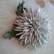 Украшения handmade. Livemaster - original item Leather flowers Brooch Autumn romance. Handmade.