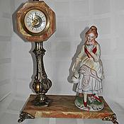 Винтаж ручной работы. Ярмарка Мастеров - ручная работа Винтажные  часы  со статуэткой. Handmade.