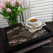 """Для дома и интерьера ручной работы. Ярмарка Мастеров - ручная работа """"Chocolaterie des Alpages"""" поднос на подушке. Handmade."""