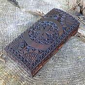 Для дома и интерьера ручной работы. Ярмарка Мастеров - ручная работа Купюрница деревянная резная. Handmade.