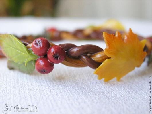 """Браслеты ручной работы. Ярмарка Мастеров - ручная работа. Купить Браслет """"Осенние листья"""". Handmade. Комбинированный, подарок любимой"""