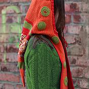 Аксессуары ручной работы. Ярмарка Мастеров - ручная работа Капюшон-колпак-шарф оранжевый. Handmade.