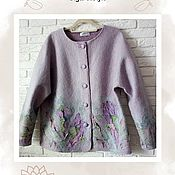 Одежда handmade. Livemaster - original item Jacket, coat Lavender. Handmade.