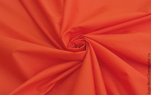 Шитье ручной работы. Ярмарка Мастеров - ручная работа. Купить Поплин красно-оранжевый. Handmade. Комбинированный, поплин, хлопок с эластаном