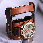 Украшения handmade. Livemaster - original item Wrist watch Double, 3 in 1. Handmade.