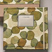 Канцелярские товары handmade. Livemaster - original item Square mini-album for a herbarium of flora (15 plants). Handmade.