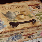 """Для дома и интерьера ручной работы. Ярмарка Мастеров - ручная работа Коробка """"Чайная коллекция"""".. Handmade."""