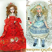 Куклы и игрушки handmade. Livemaster - original item Alice and the Red Queen-dolls from a fairy tale. Handmade.