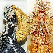 """Куклы и пупсы ручной работы. Ярмарка Мастеров - ручная работа """"День и ночь""""- дуэт фарфоровых кукол. Handmade."""