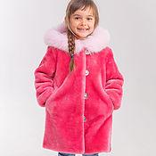 Одежда детская handmade. Livemaster - original item Pink baby fur coat. Handmade.