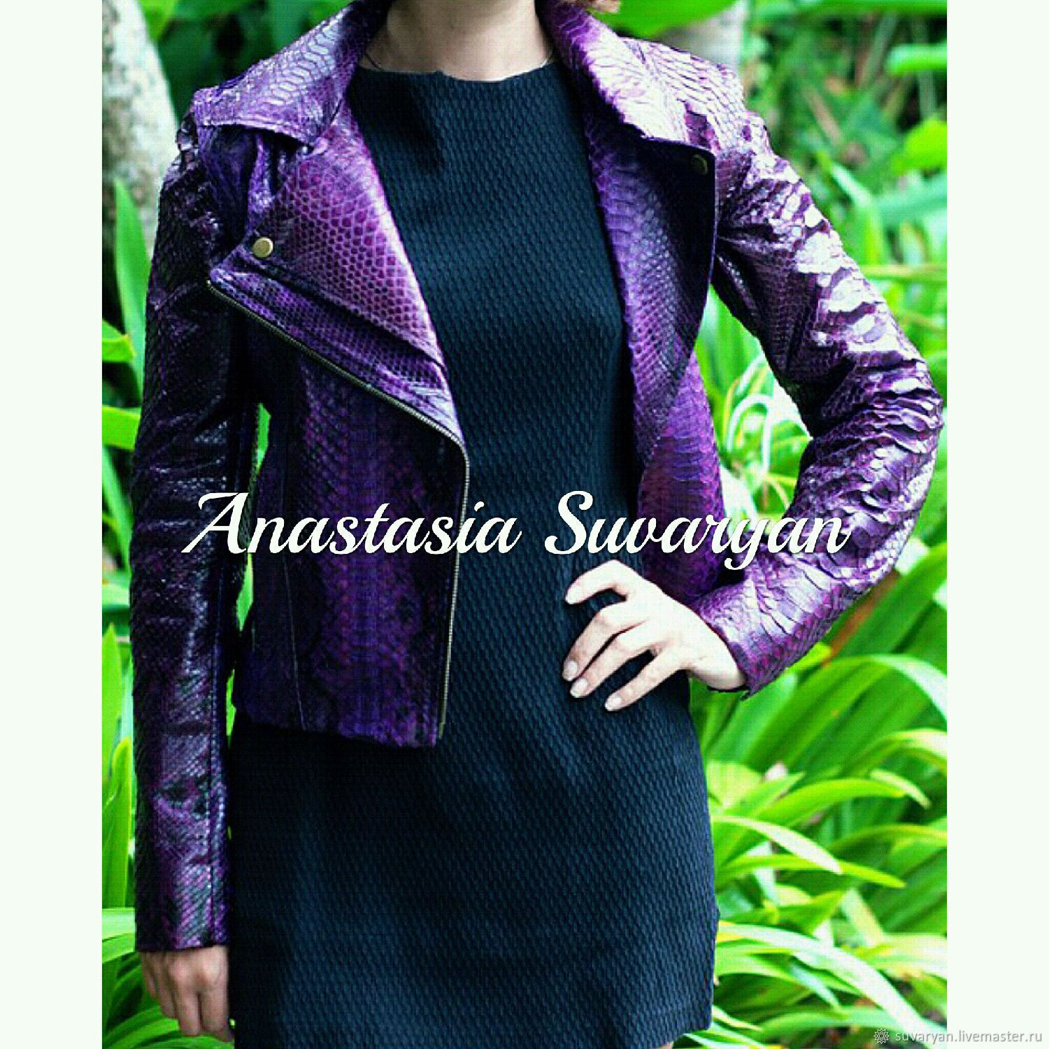 Jacket -transformer made of genuine Python leather, Outerwear Jackets, Barnaul,  Фото №1