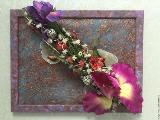 Коллаж из цветов Анна Барышева