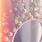 Аксессуары ручной работы. Ярмарка Мастеров - ручная работа Диадема ободок корона из страз бусин камней. Handmade.