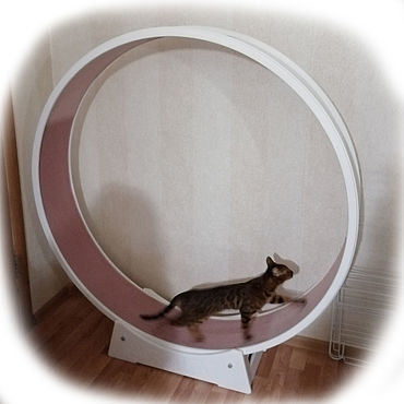 Товары для питомцев ручной работы. Ярмарка Мастеров - ручная работа Беговое колесо для кошек 140см. Handmade.