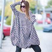 Одежда handmade. Livemaster - original item Cotton tunic. Tunic in a cage. A trendy tunic. Tunic.. Handmade.