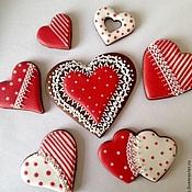Сувениры и подарки ручной работы. Ярмарка Мастеров - ручная работа Сердечки пряничные,валентинки. Handmade.