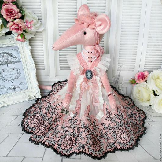 крыса розовая мышь купить мышонок мышка купить мышь игрушка крыса игрушка мышь сувенир крыса в кружевном платье крыс крысы игрушки леди и медведи крысы дамы леди красивые интерьерные куклы игрушки
